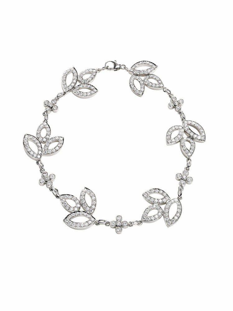 片中讓阮經天認出舒淇的Lily Cluster系列鑽石手鍊鉑金鑲嵌重1.70克拉...