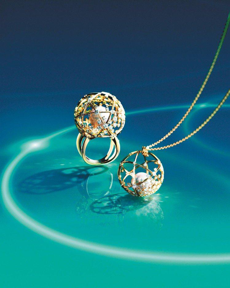 A World of Creativity系列以地球為概念的南洋珠戒指72萬元、...