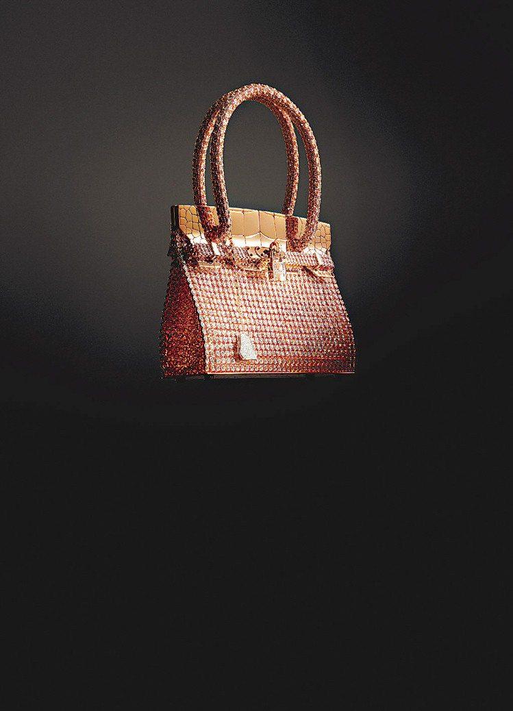 柏金包Birkin Bag珠寶,玫瑰與白K金鑲嵌2,712顆總重89.22克拉鑽...