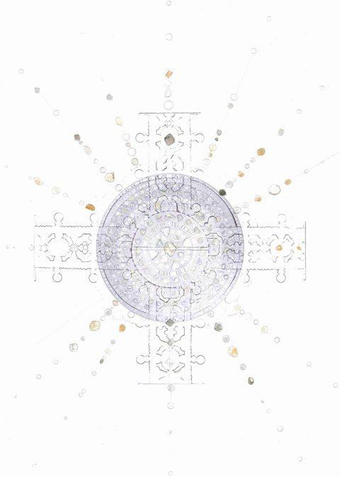 De Beers Talisman紀念皇冠靈感手繪圖。圖/De Beers提供
