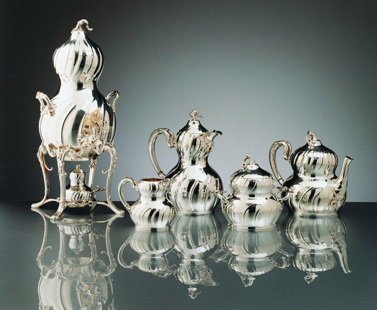 1889年Christofle為巴黎萬國博覽會設計純銀的南瓜系列The Cour...