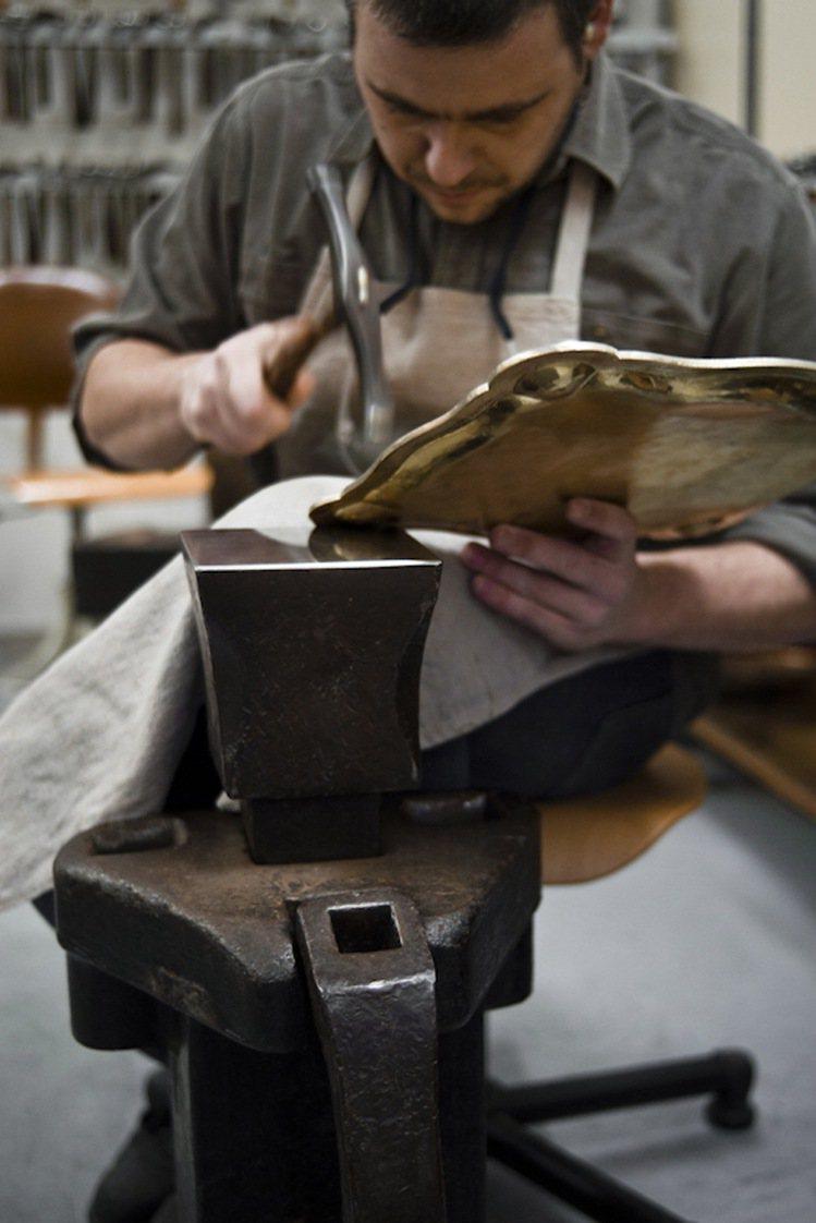 Christofle謹慎選擇最恰當的工藝技術。圖/Christofle提供