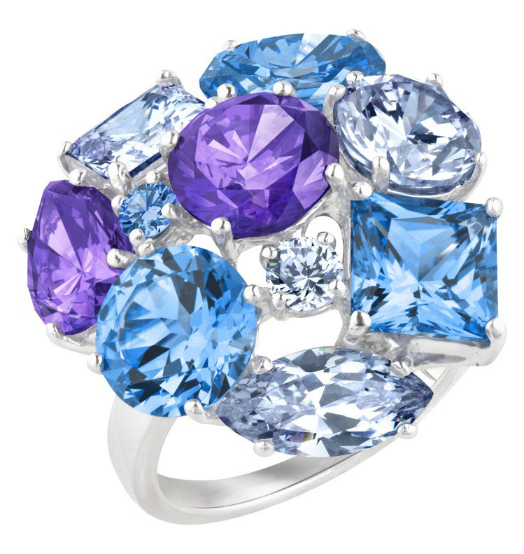 ARTE海水藍繩結造型晶鑽戒指,12,100元。圖/迪生提供