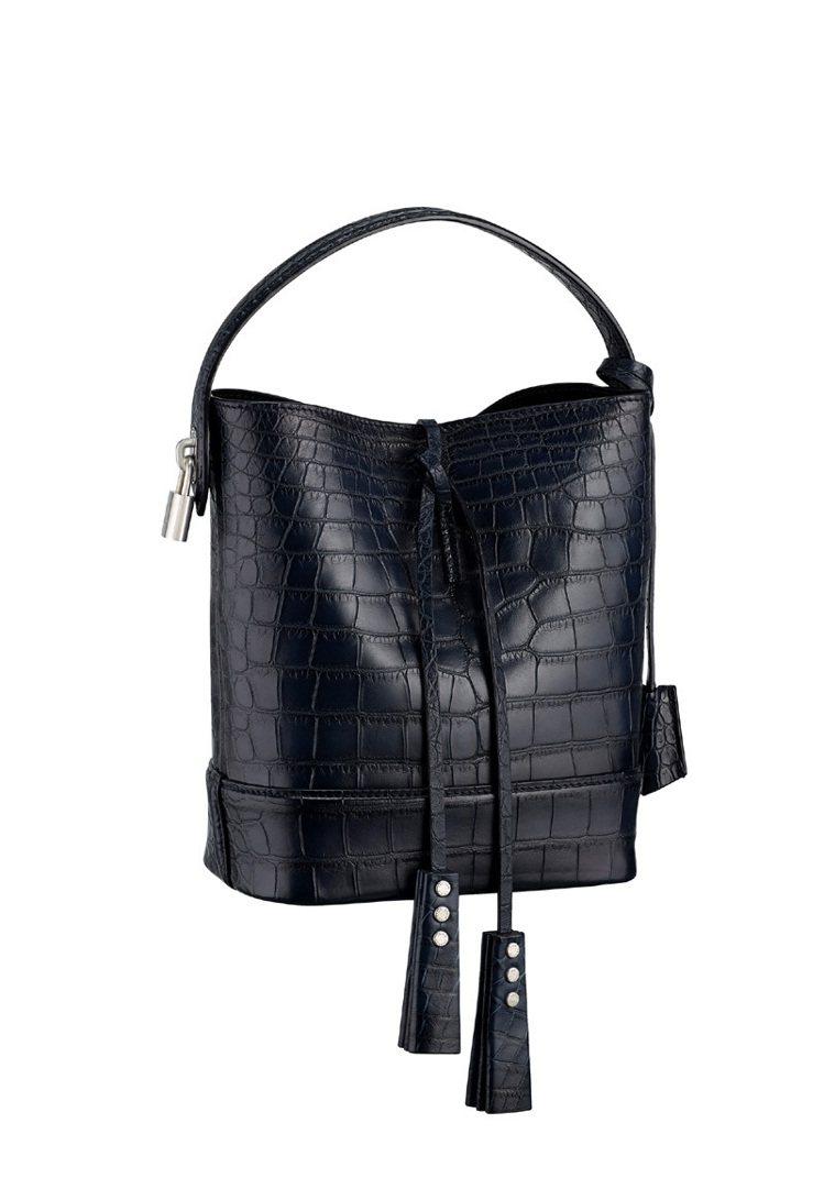 PM黑色鱷魚皮革NN14包,67萬元。圖/LV提供