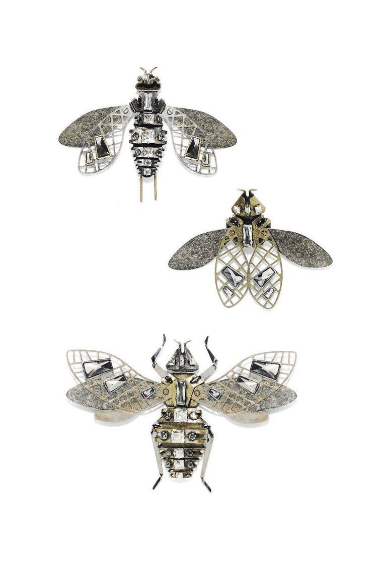 LANVIN昆蟲胸針,63,700元起。圖/LANVIN提供
