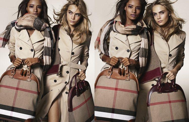 在寒冬送上溫暖的圍巾,是最時尚又實用的賀禮。圖/Burberry提供