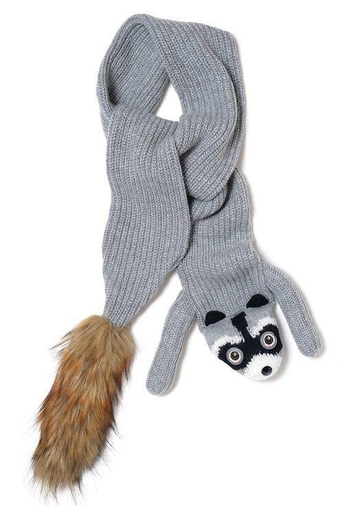 Kate Spade raccoon圍巾。圖/Kate Spade提供