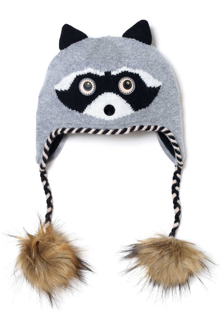 Kate Spade raccoon毛帽。圖/Kate Spade提供