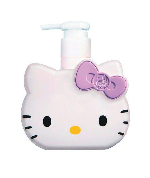 上山採藥新推出Hello Kitty花果洗沐系列。圖/上山採藥提供