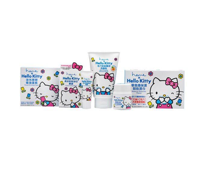 heme x Hello Kitty 魔力極淨系列包裝繽紛可愛。圖/heme提供