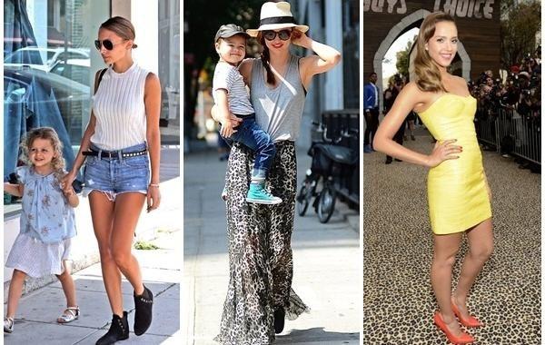 好萊塢明星媽媽,左起妮可里奇、米蘭達柯爾、潔西卡艾芭。圖/she.com Tai...