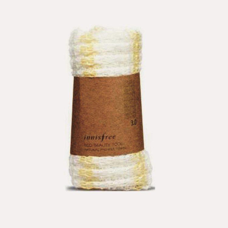質地柔軟舒服,不會刺激眼周嬌嫩肌膚。生態美容自然沐浴毛巾,韓幣3500/Inni...