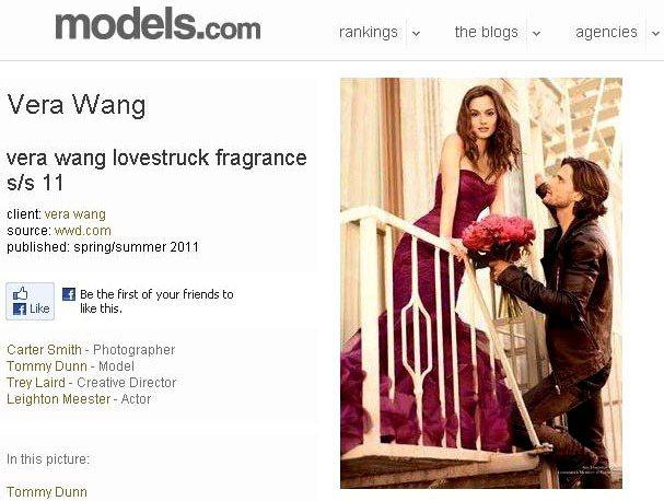 Vera Wang Lovestruck香水廣告。圖/擷取自models.com