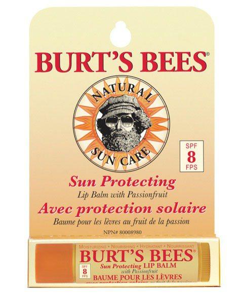 BURT'S BEES百香果QQ護唇膏SPF8(4.25g/230元)抵擋紫外線...