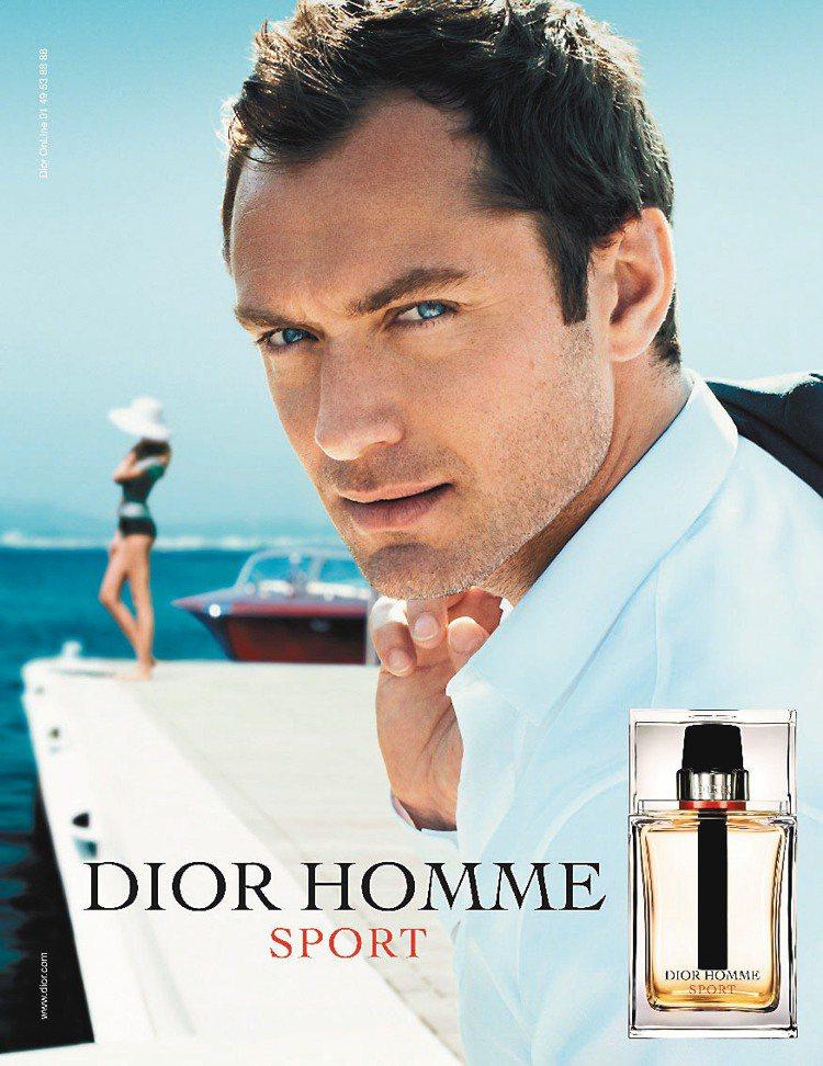 Dior HOMME SPORT淡香水,由代言人裘德洛呈現成熟都會男的運動風、5...