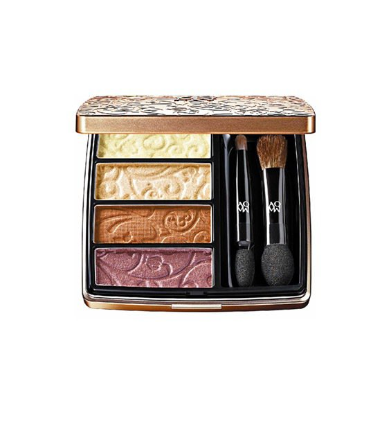 黛珂AQMW舞蝶眼影金豔奢華版以金色夕陽為靈感。2,000元。圖/黛珂提供