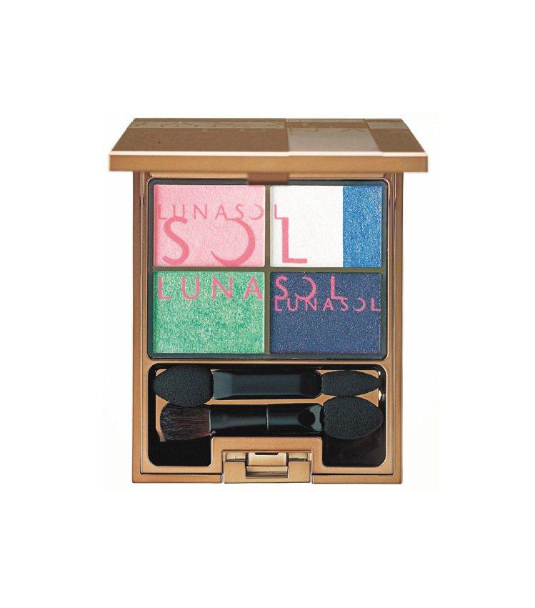 佳麗寶LUNASOL晶巧光燦眼盒 (艷采),以斑斕蝶翼為靈感,鮮豔、服貼。1,8...