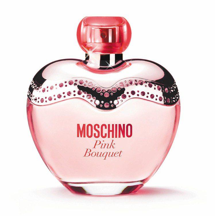 MOSCHINO粉紅女性淡香水50ml/2,200元。圖/宏亞香水提供