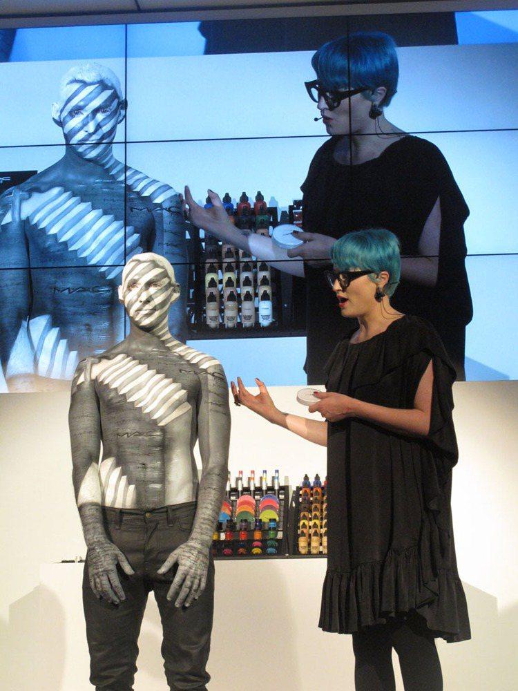 澳洲資深彩妝師Nicole Thompson將蕭青陽的金曲獎作品「教堂卡」(Ch...