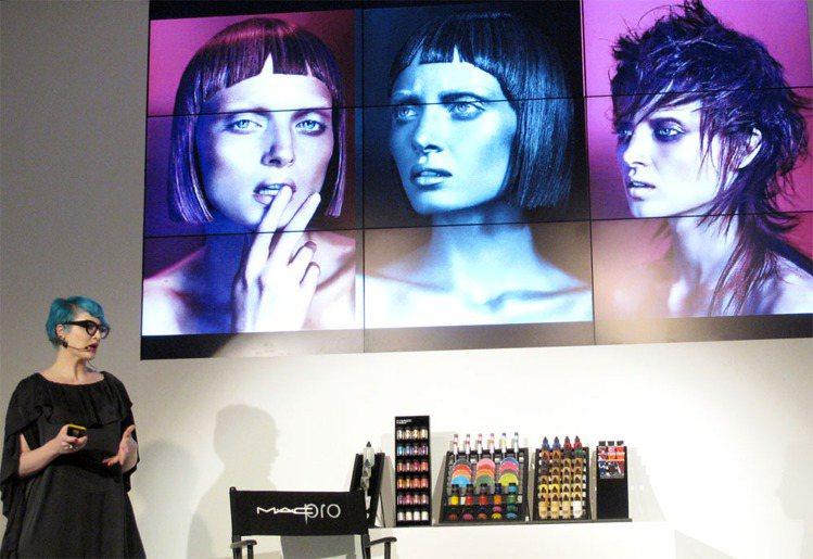 澳洲資深彩妝師Nicole Thompson展示她的作品,M.A.C PRO系列...