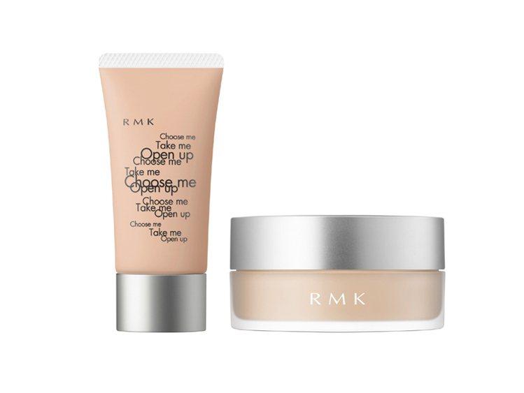 RMK推出多色選的柔焦隔離霜N30g/1,350元以及水凝透光蜜粉1,600元。...