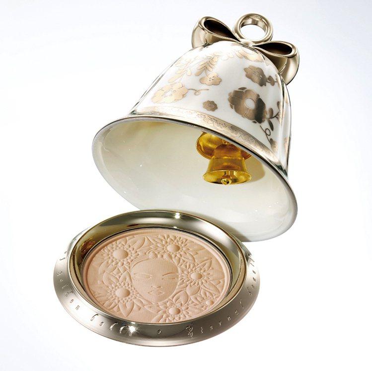 黛珂耶誕節限量商品永恆祈願蜜粉(幸福搖鈴)接近完售、8,800元。圖/黛珂提供