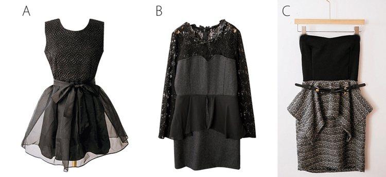 不用2000元就能搞定PARTY服。(A)下襬紗裙剪裁保留一點女孩氣息,上半身壓...