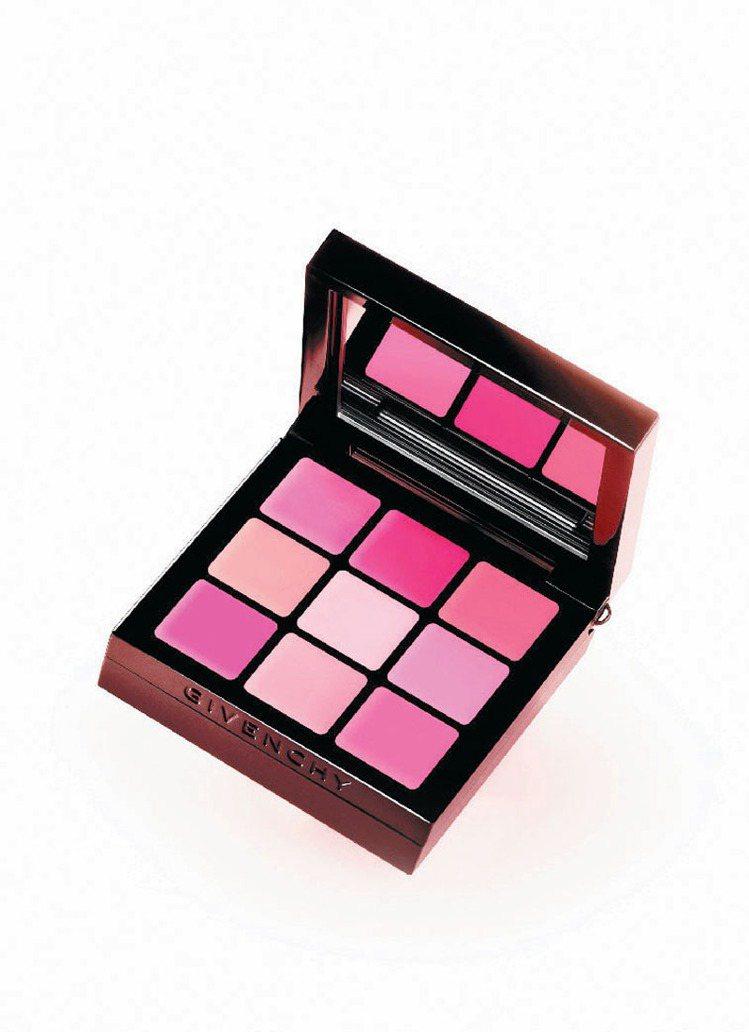 紀梵希春妝主推粉紅派對九宮格唇頰彩盤2,370元。圖/紀梵希提供