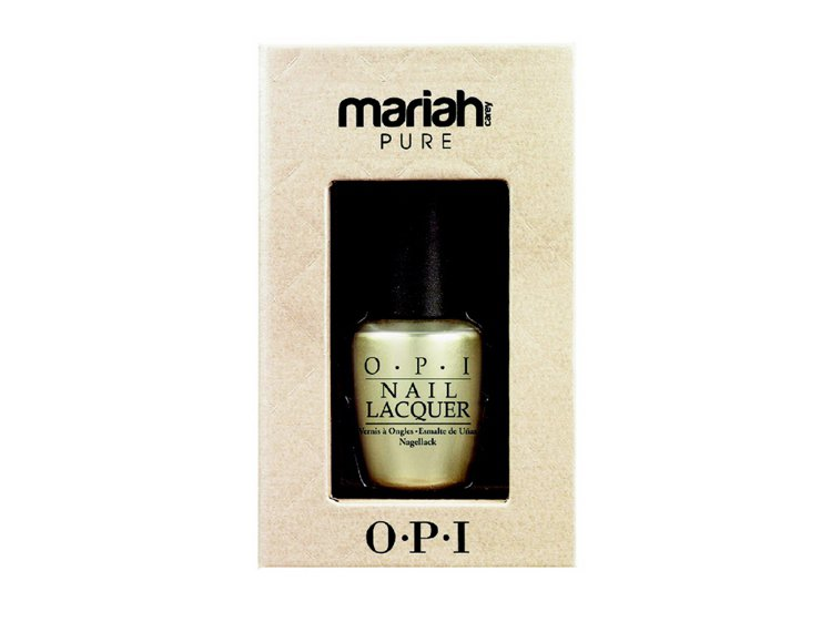 OPIxMariah Carey 18K白金限量指彩。圖/OPI提供