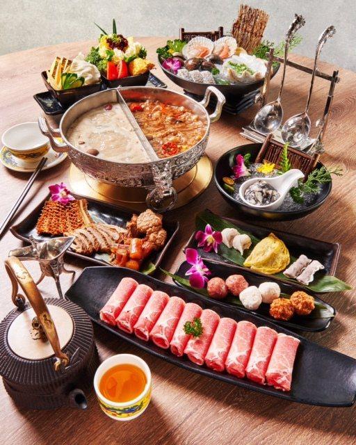 頂級麻辣火鍋店「問鼎」精緻餐點。圖/OPI提供