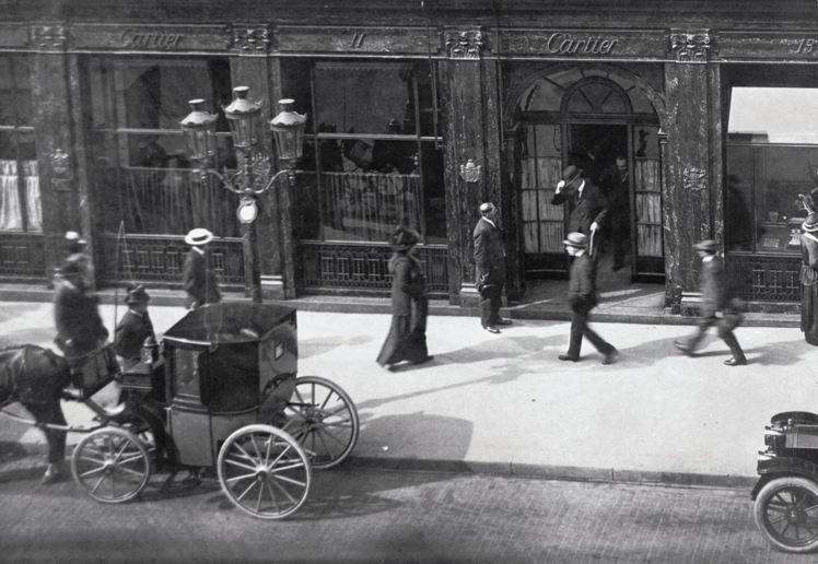 1900年時巴黎的卡地亞和平路13號總店。圖/卡地亞提供