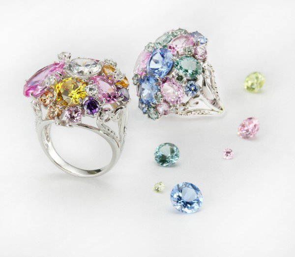 ARTE Deseo系列晶鑽戒指,各17,200元。圖/迪生提供