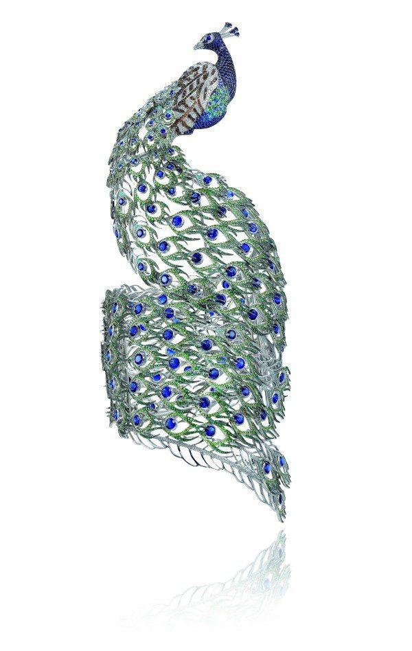 蕭邦動物世界系列孔雀手鐲。圖/迪生提供