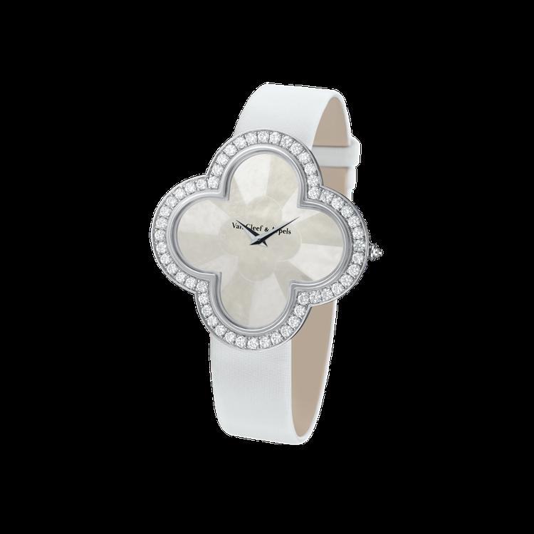 Alhambra Talisman 腕錶-白K金鑽石錶殼,Alhambra幸運圖...