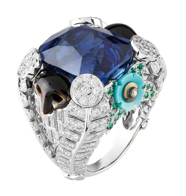 VAN CLEEF & ARPELS Bauta d'ecor戒指,白K金材質,...