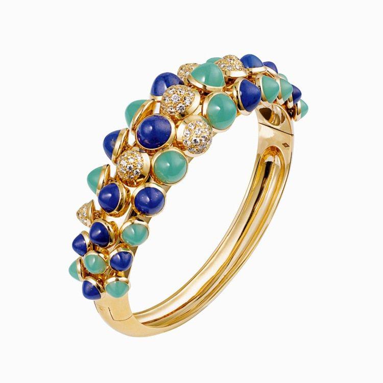 卡地亞Paris Nouvelle Vague系列Espiegle手環,黃K金鑲...
