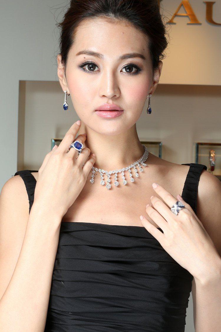 名模林葦茹展演CHAUMET全新頂級Liens珠寶系列。圖/記者陳立凱攝影