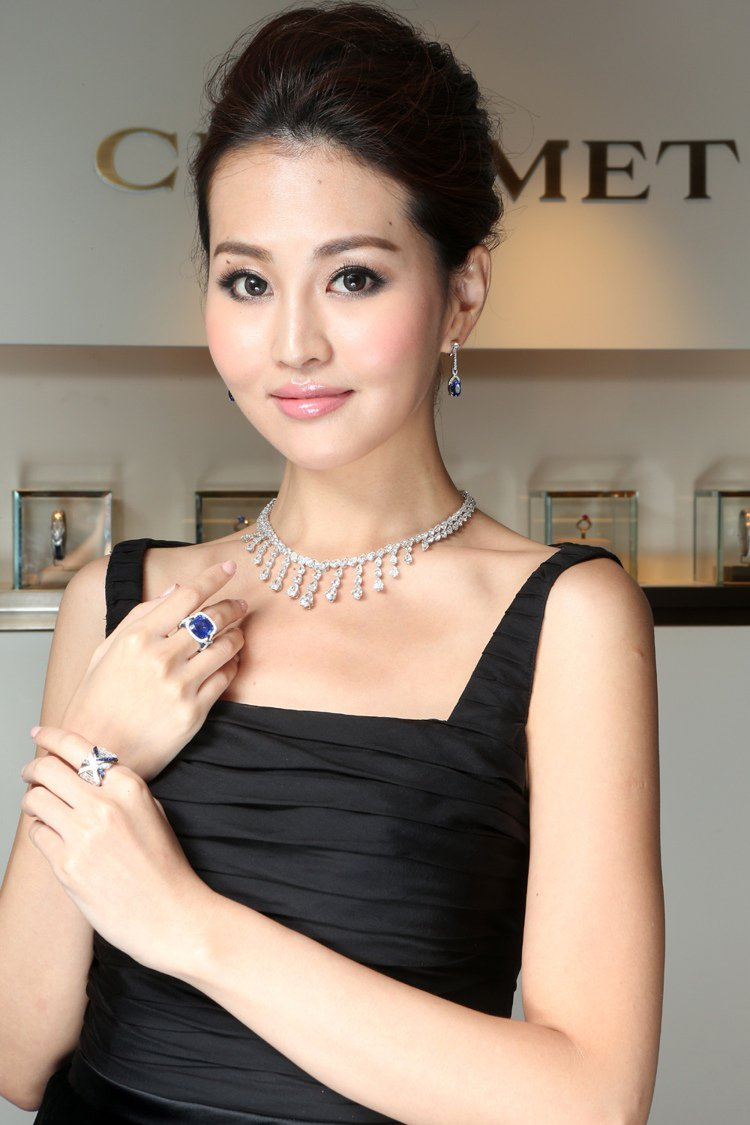 CHAUMET昨天發表全新頂級 Liens珠寶系列,邀請凱渥名模林葦茹展演。圖/...