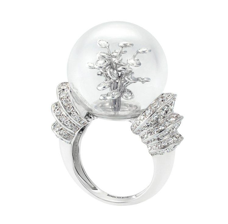 Perles d'Eclat璀璨珠串戒指鑲嵌1顆水晶球共21.35克拉、176顆...