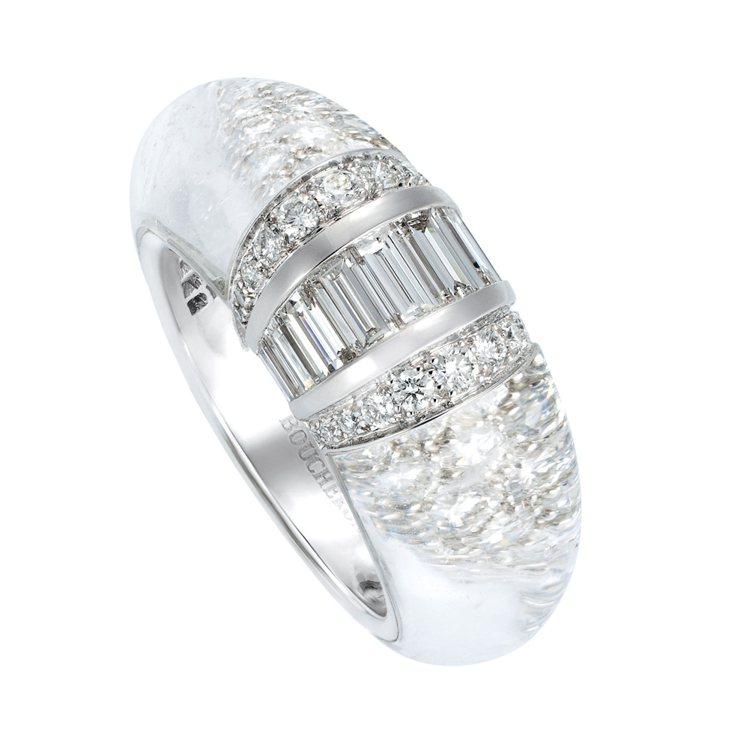 Goutte de Lumiere光之滴墜戒指鑲嵌1顆梨形水晶約24.05克...