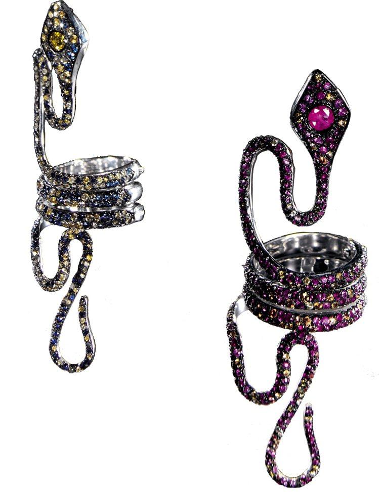 PAOLO PIOVAN GIOIELLI蛇型戒指。圖/珠寶之星