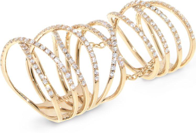 CASATO戒指,鑲嵌鑽石。圖/珠寶之星