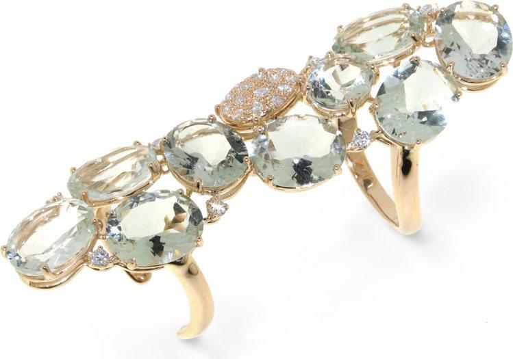 CASATO戒指,鑲嵌鑽石與彩色寶石。圖/珠寶之星