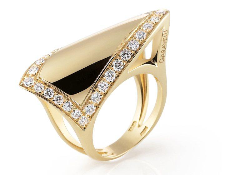 GARAVELLI 18K黃金鑽石戒指。圖/珠寶之星