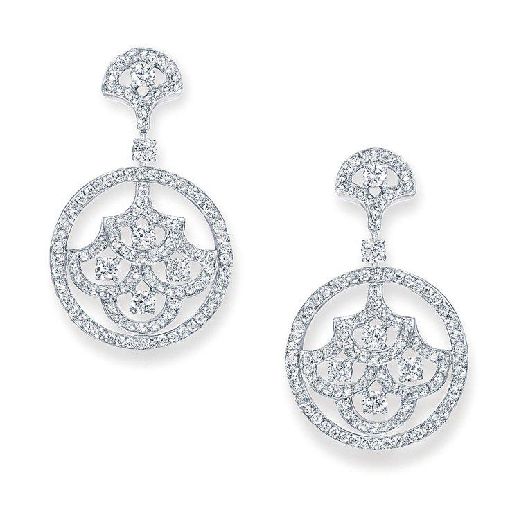 GRAFF Icon系列鑽石耳環。圖/珠寶之星
