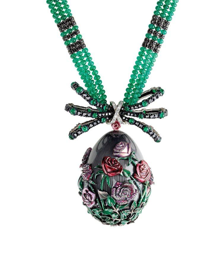 2013年全新的Les Fameux系列玫瑰彩蛋。圖/珠寶之星