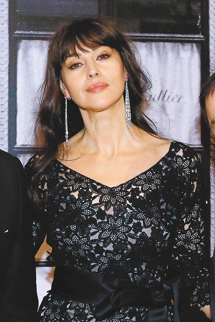 義大利女演員莫妮卡貝魯琪出席「卡地亞:風格史詩」酒會。圖/卡地亞提供