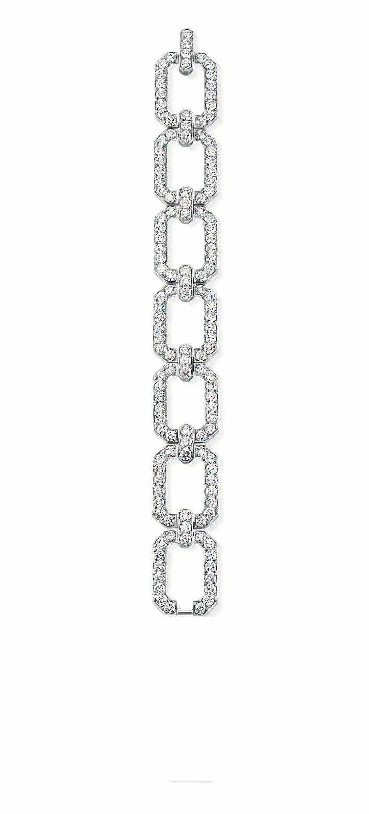 Medium Links手鍊,鉑金鑲嵌共106顆總重40.07克拉鑽石,1,33...