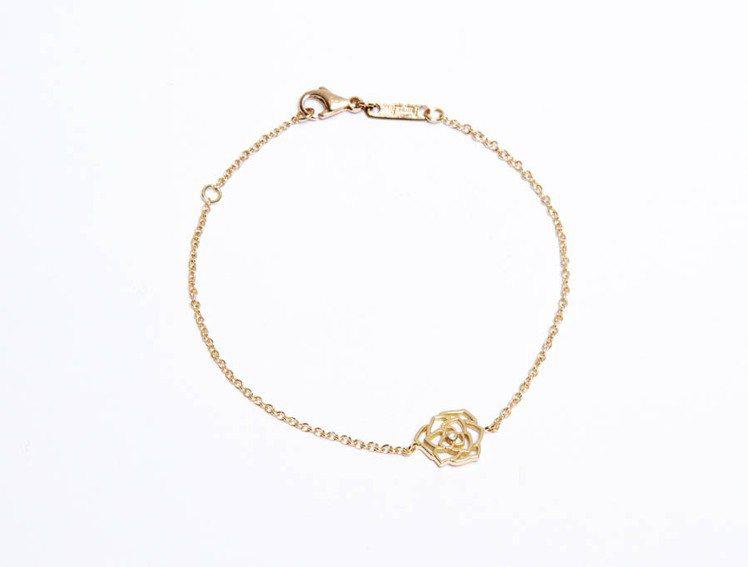 Piaget Rose 系列玫瑰金手環。圖/伯爵提供