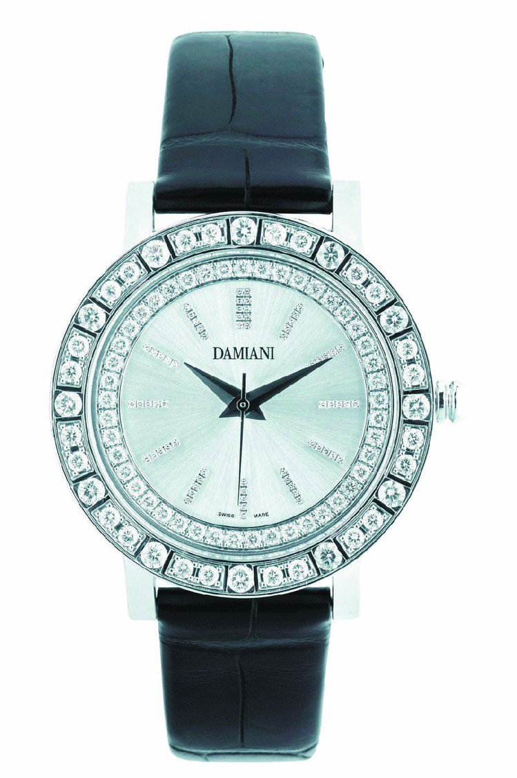 Belle Epoque幾何造型白鑽珠寶表,103萬9,000元。圖/DAMIA...